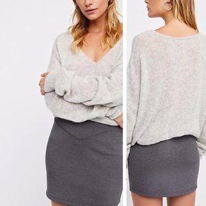 NWT Free People Grey Ponte Knit skirt, small